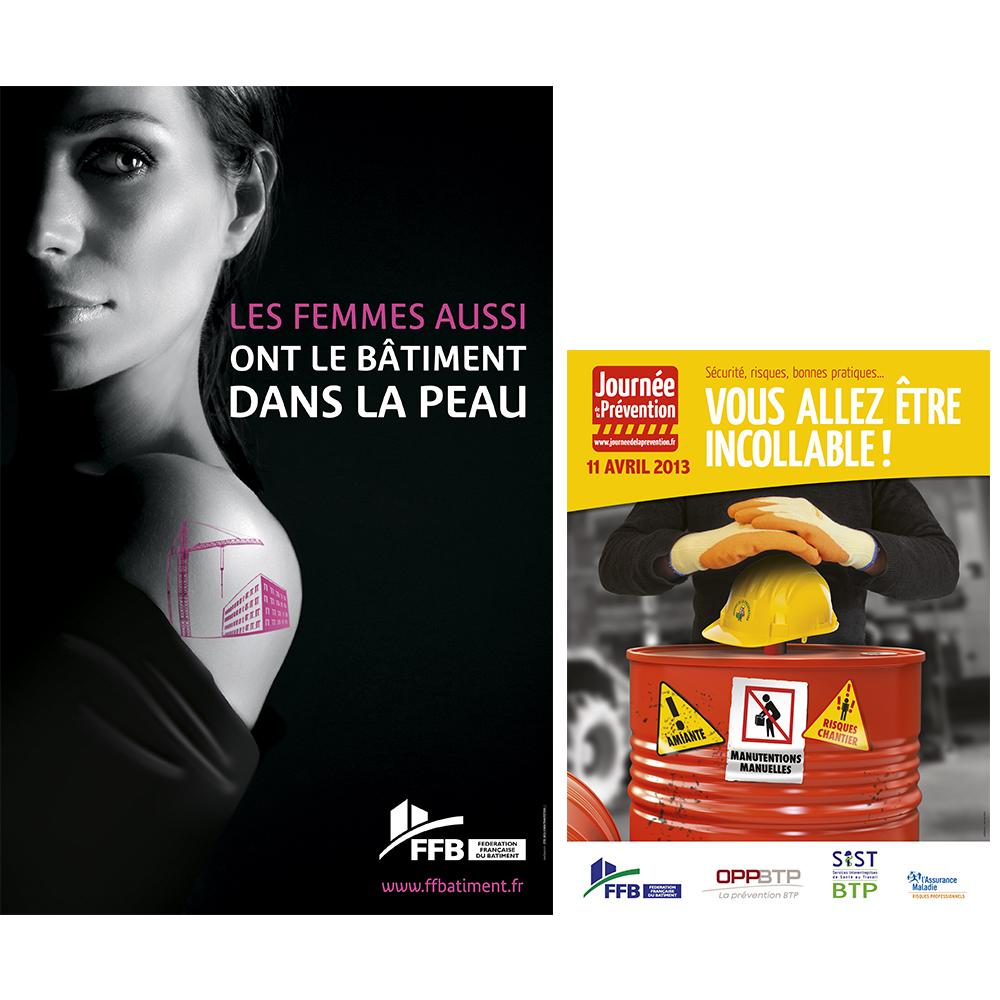 Affiches FFB axellescom journee de la femme securite